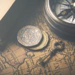 map, compass, vintage